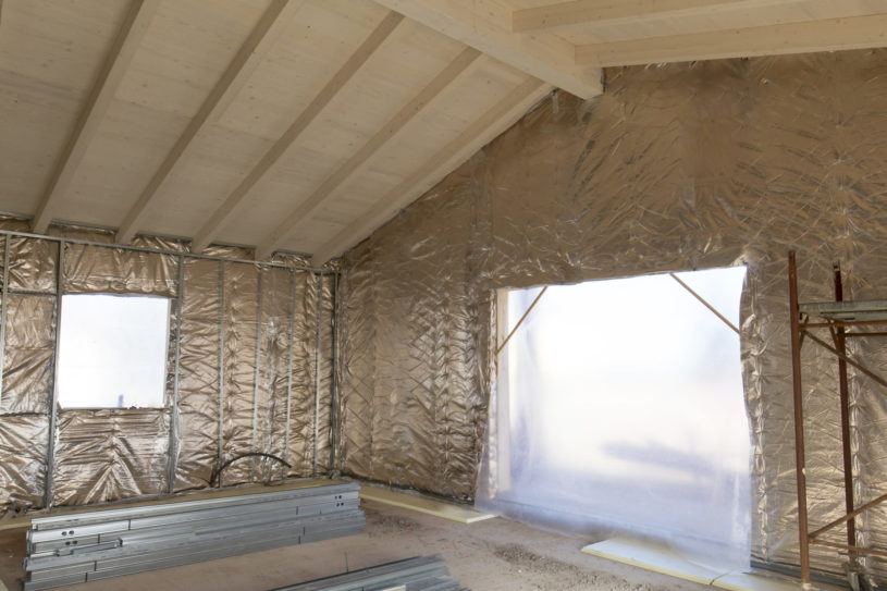 Building Construction: Insulation Of A House With Thermal Reflective Material